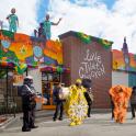Schnellrestaurants als Karnevalswagen